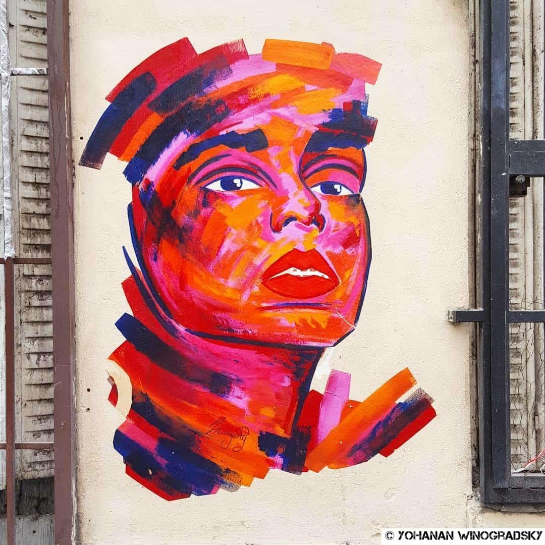 Le plaisir – Street art par Manyoly, Paris