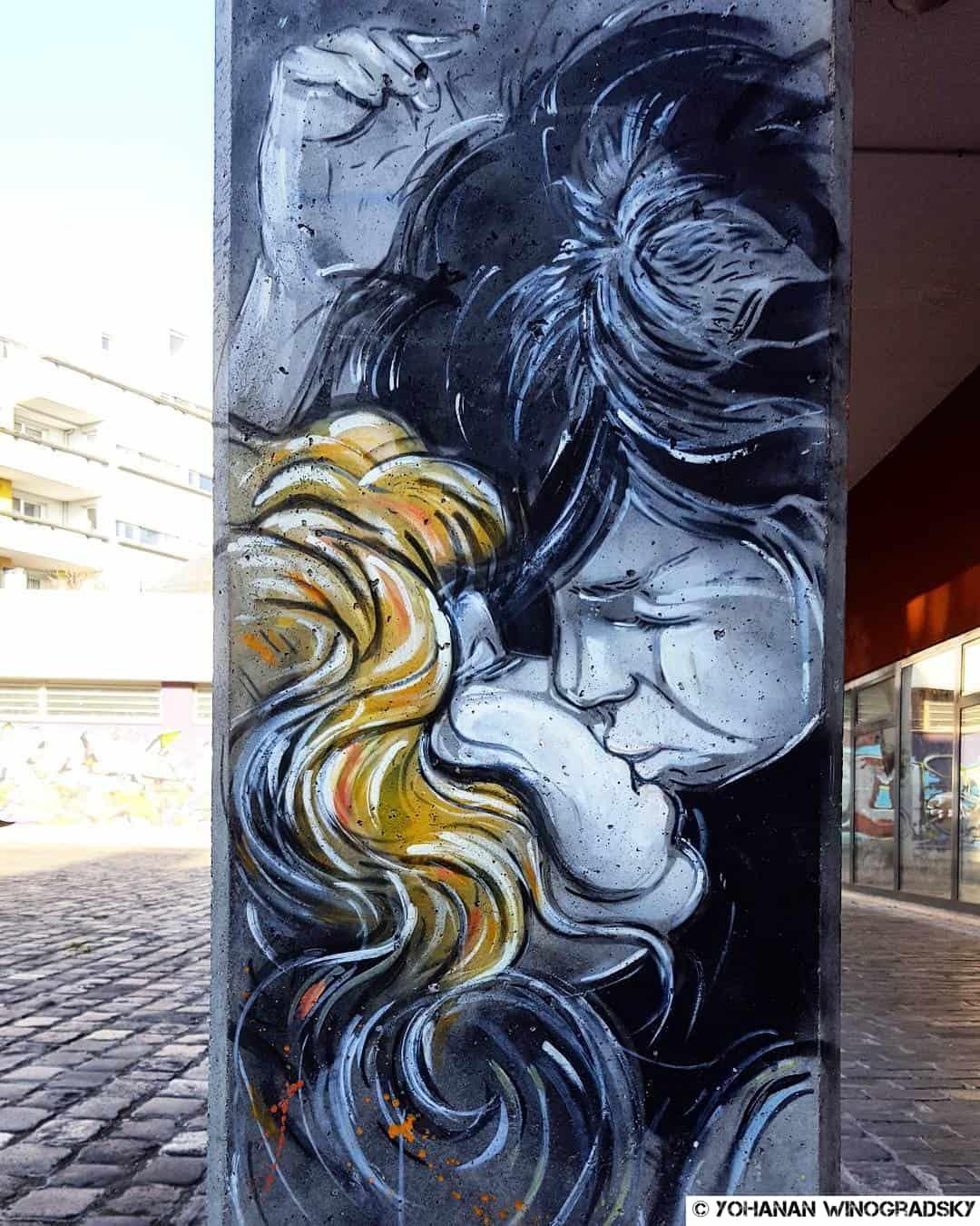 Désir – Street art d'Alice Pasquini, Vitry-sur-Seine
