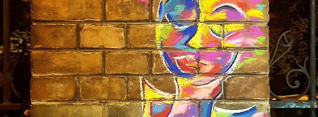 vers à l'ange – street art par Marie, Paris
