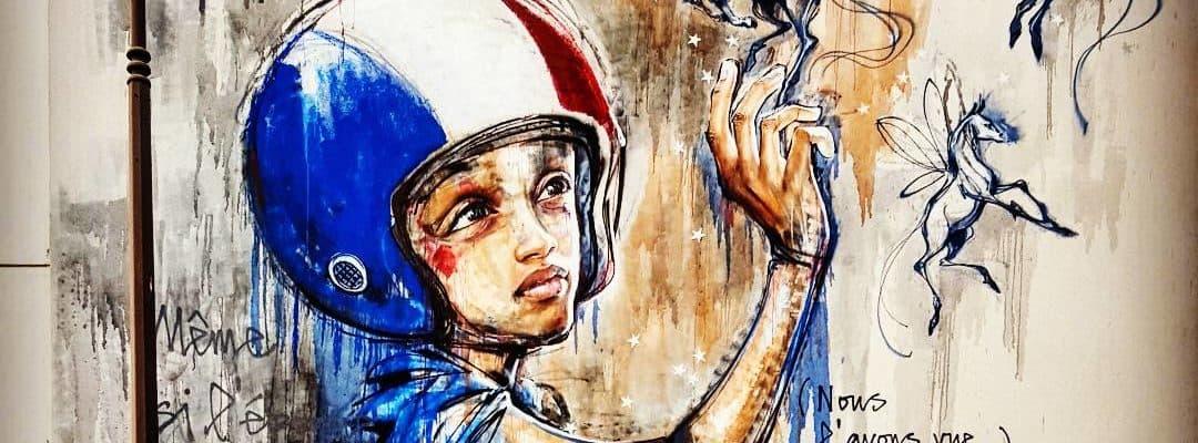 Les aventures de Capitaine France – Street art d'Herakut, Paris