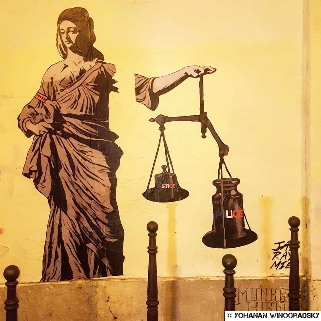 Justice, Police – Street art par Jaeraymie, Paris