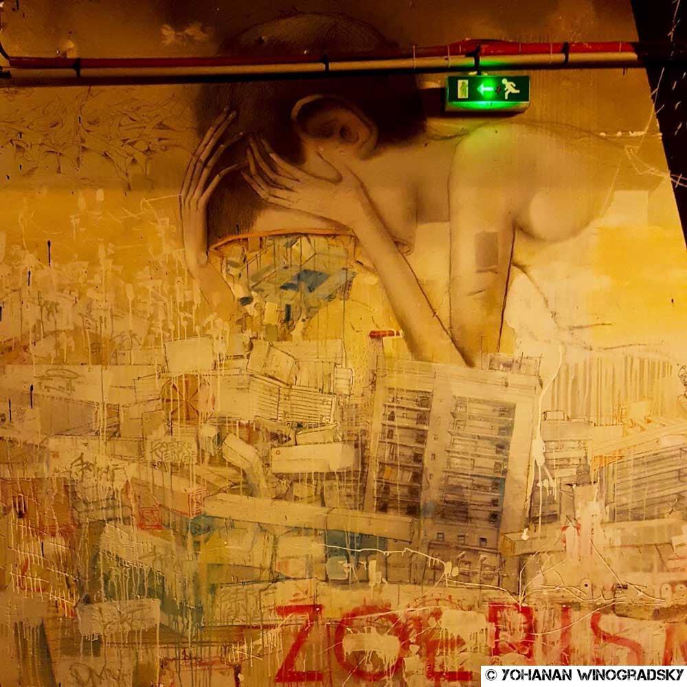 L'écoute-soignant – Street art de Seth Globalpainter & Zoerism, Paris