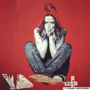 street art de polarbear paris marianne moderne rouge