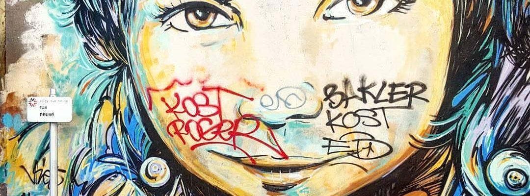 L'archiviste – Street art d'Alice Pasquini, Vitry-sur-Seine