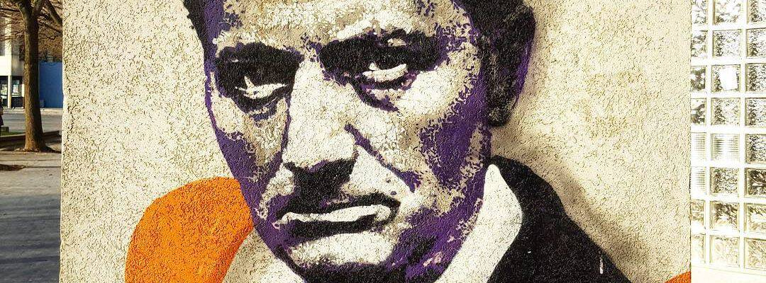 Portrait de Baudelaire – Street art par Orticanoodles, Vitry-sur-Seine