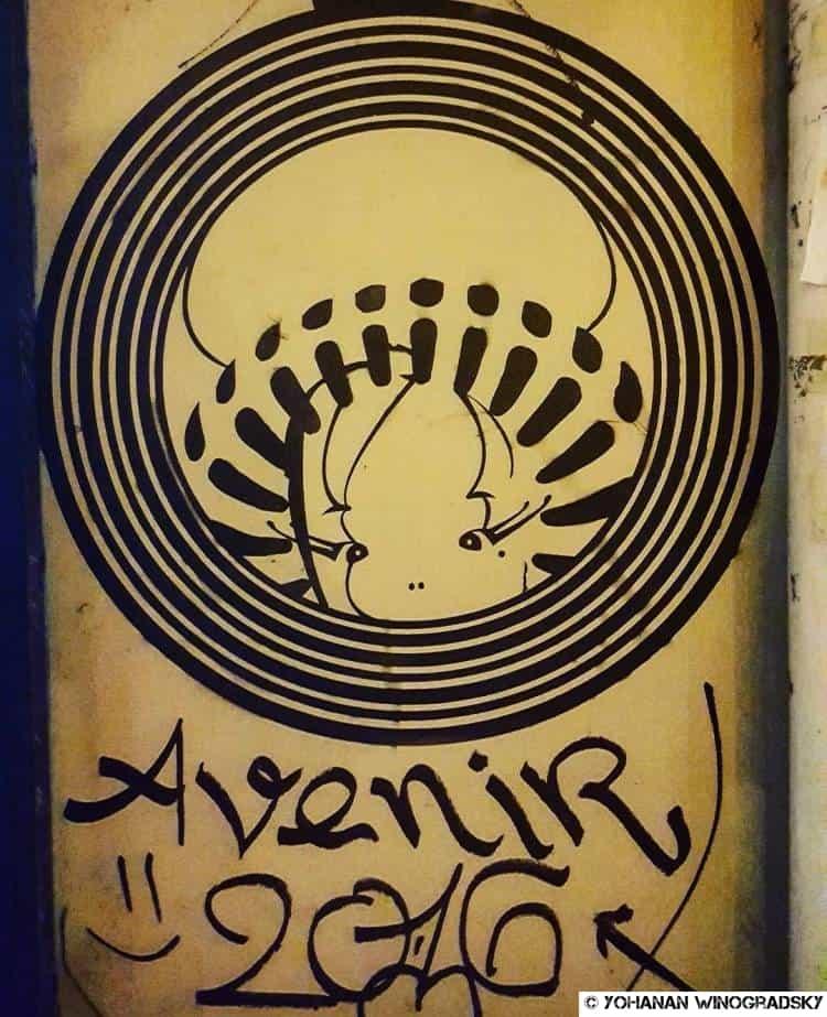 street art par akiza stencil