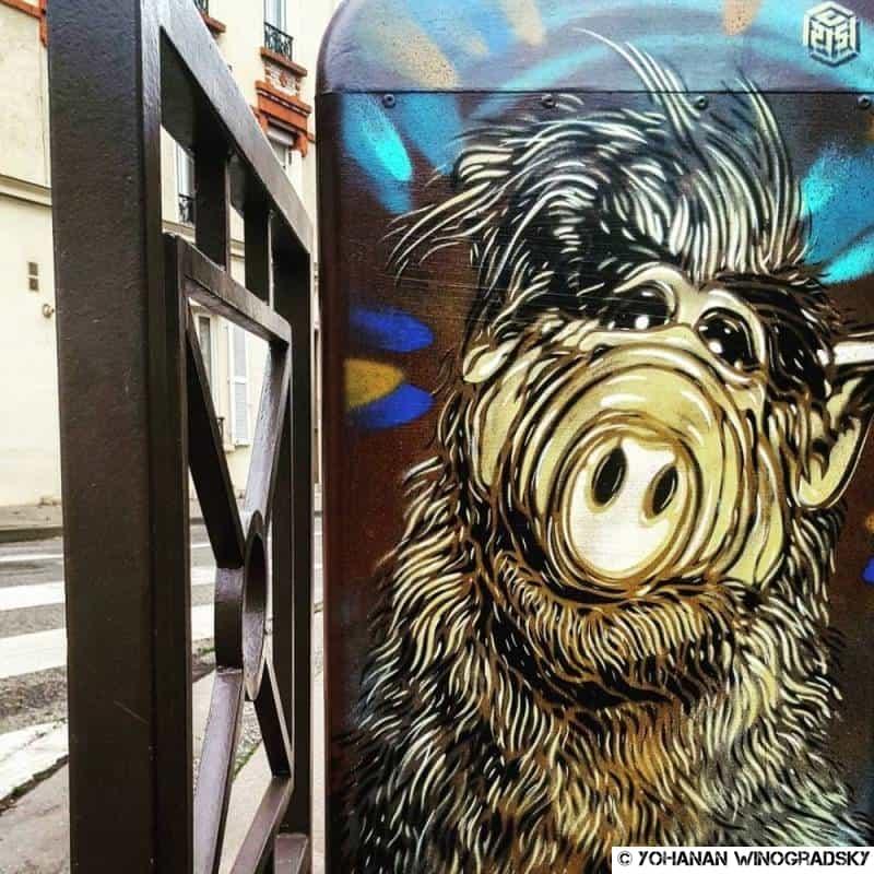 street art par c215 à vincennes pour festival america