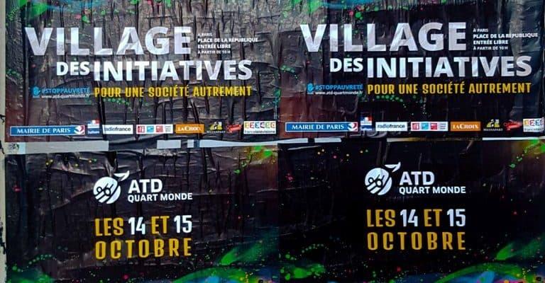 ATD Quart Monde & le Village des Initiatives – Street art par c215, Paris