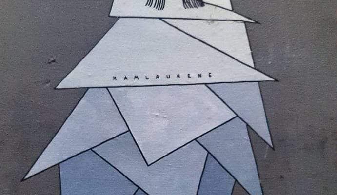 Folle de triangles – Street art par Kam & Laurène au Cabinet d'Amateur, Paris