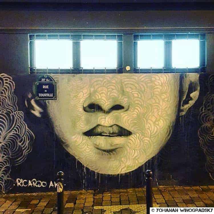 streetart paris par Ricardo AKN rue de tourtille