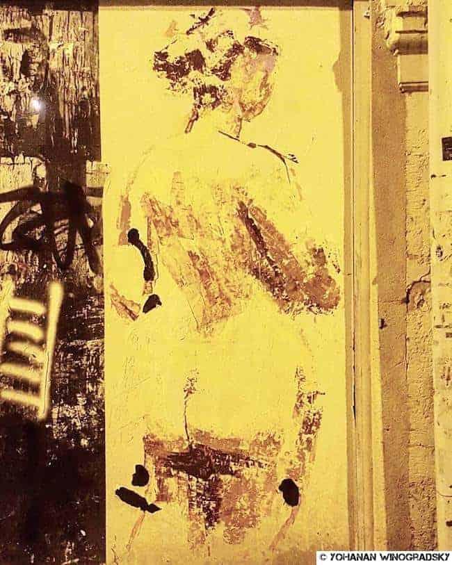 La douche froide – Street art 20è arrondissement, Paris