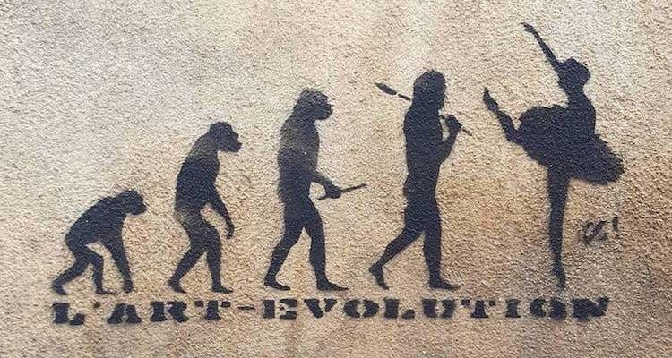 L'art-évolution – Streetart par Zapata Painter près du Bal Blomet, Paris